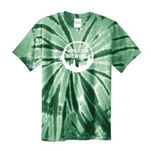 Appalachian Spiral Tie-Dye T-Shirt - Green