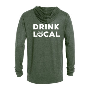 Appalachian Drink Local Full Zip T-Shirt Hoodie